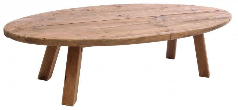 Ancient Mariner Fair Isle Reclaimed Pine Oval Coffee Table