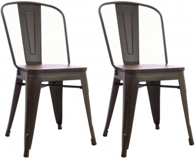 Ancient Mariner Fitzroy Elm Dining Chair (Pair)