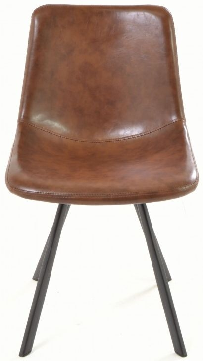Ancient Mariner Fitzroy Tan Faux Leather Dining Chair (Pair)