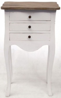 Ancient Mariner Laura 3 Drawer Bedside Table