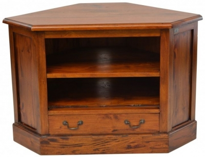 Ancient Mariner Mahogany Village Large Corner TV Unit
