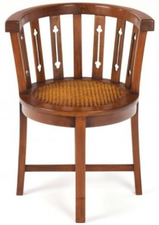 Ancient Mariner Mahogany Village Tub Chair - Rattan
