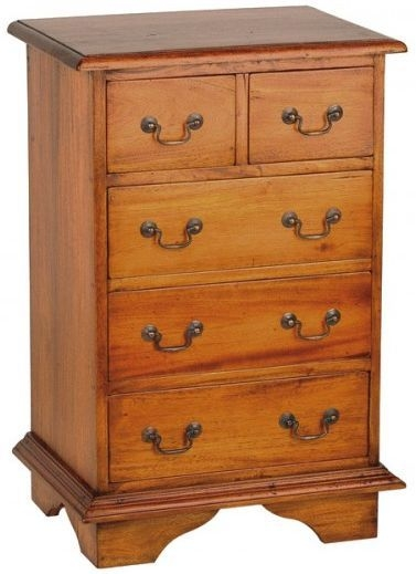 Ancient Mariner Mahogany Village Chest of Drawer - 2 Over 3 Drawer