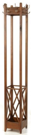 Ancient Mariner Mahogany Village Coat Rack - Square