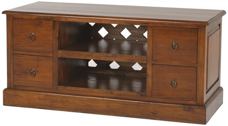 Ancient Mariner Mahogany Village Low TV Unit