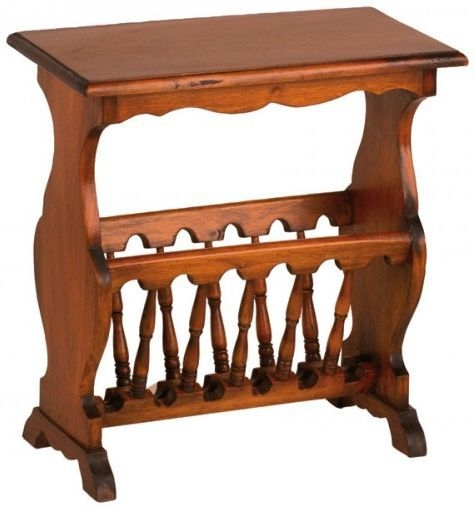 Ancient Mariner Mahogany Village Magazine Rack