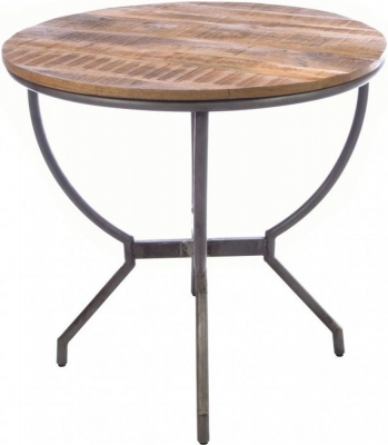 Ancient Mariner Old Empire Mango Wood Round Dining Table