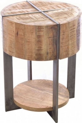 Ancient Mariner Old Empire Mango Wood Lamp Table