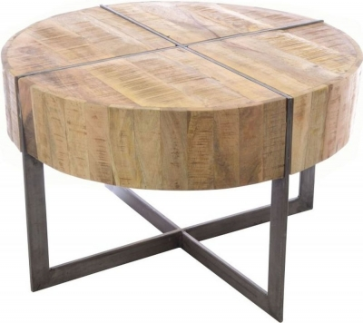 Ancient Mariner Old Empire Mango Wood Round Coffee Table
