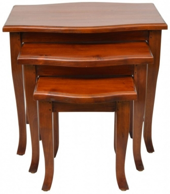Ancient Mariner Pacific Mahogany Nest of Tables
