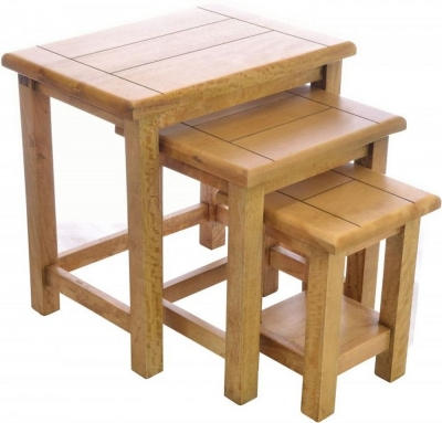 Ancient Mariner Plato Mango Wood Nest of Tables
