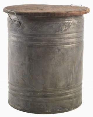 Ancient Mariner Restoration Metal Storage Stool