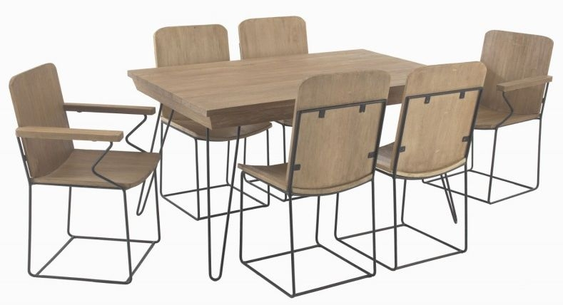 Ancient Mariner Rustico Dining Set with 4 Chairs and 2 Carver Chairs