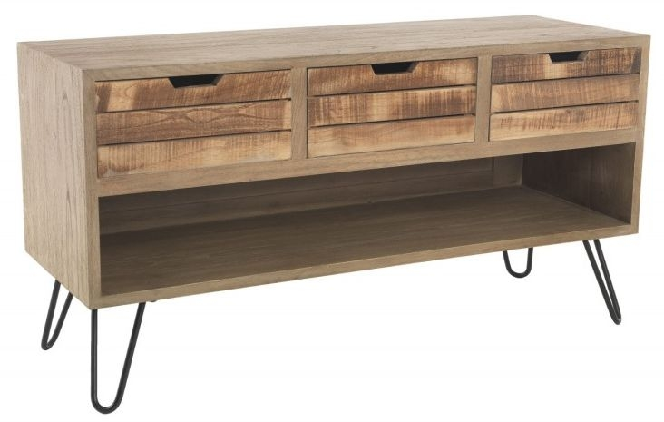 Ancient Mariner Rustico TV Unit - 3 Drawer with Shelf