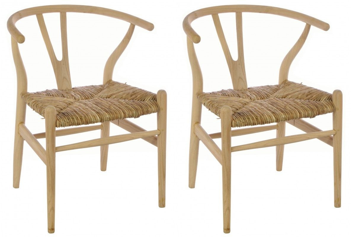 Ancient Mariner Shoreditch Dining Chair with Rush Seat (Pair)