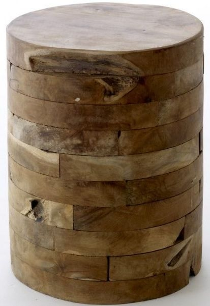 Ancient Mariner Reclaimed Wood Round Block Stool