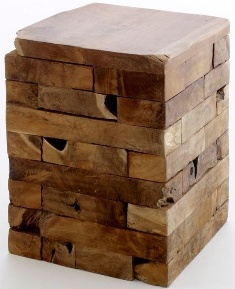Ancient Mariner Reclaimed Wood Square Block Stool