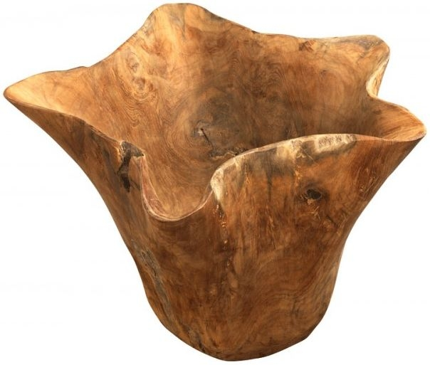 Ancient Mariner Tree Root Teak Wavy Edge Pot