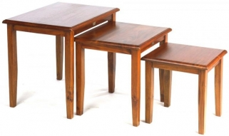 Ancient Mariner Victorian Nest of Tables - Plain Leg