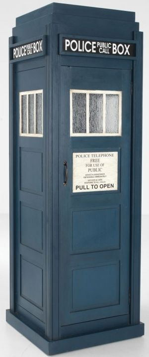 Ancient Mariner Police Box Shelving Unit