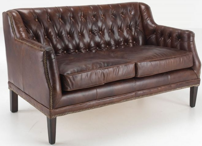 Ancient Mariner Vintage Brown Fiona Leather Sofa