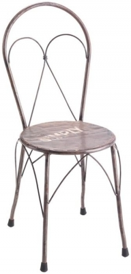 Ancient Mariner Vintage Metal Bistro Chair