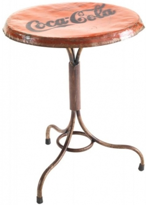 Ancient Mariner Vintage Metal Round Bistro Table