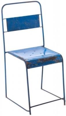 Ancient Mariner Vintage Metal Solid Framed Stacking Chair