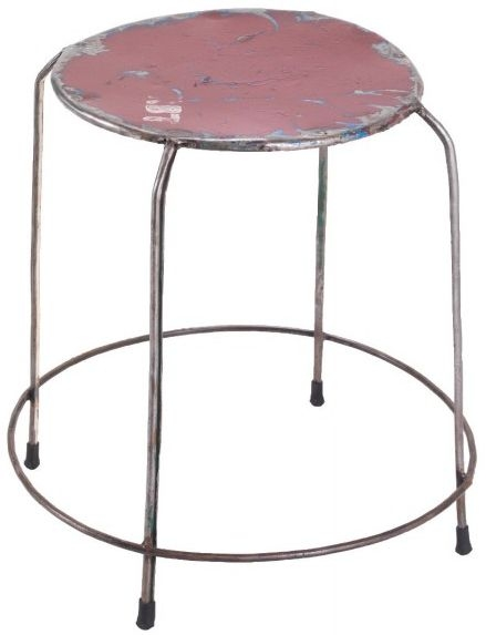 Ancient Mariner Vintage Metal Round Stackable Stools