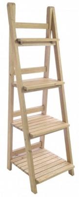 Ancient Mariner Vintage Mahogany Ladder Shelf Unit