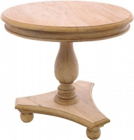 Ancient Mariner Wooden Bun Feet Round Low Wine Table