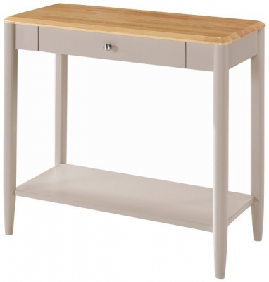Altona Sofa Table - Oak and Stone Grey Painted