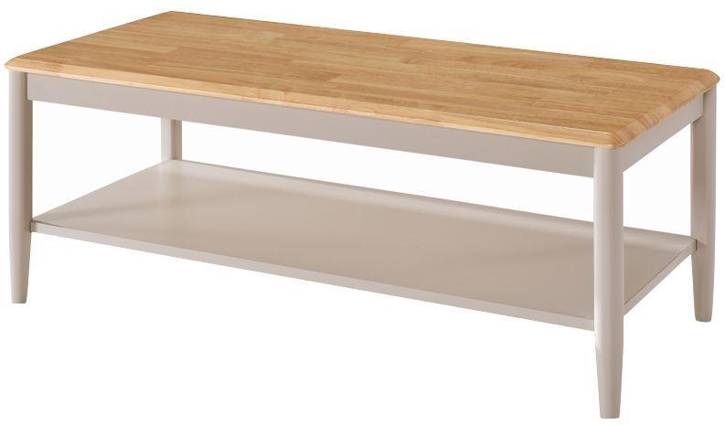 Altona Coffee Table - Oak and Stone Grey Painted