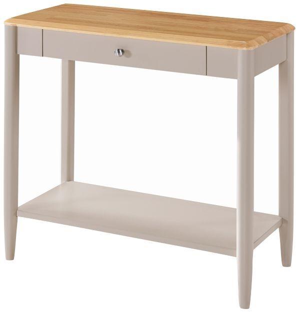 Altona Sofa Table - Oak and Stone Grey Painted
