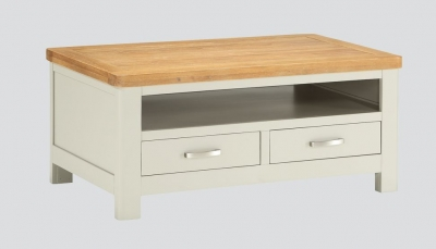 Andorra Coffee Table - Oak and Stone Painted