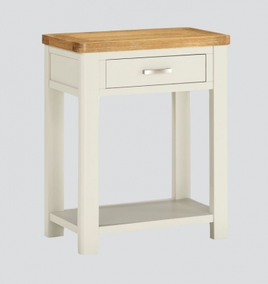 Andorra Console Table - Oak and Stone Painted