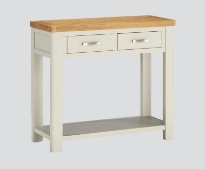 Andorra Large Console Table - Oak and Stone Painted