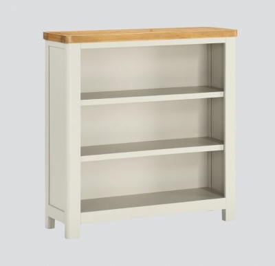 Andorra Low Bookcase - Oak and Stone Painted