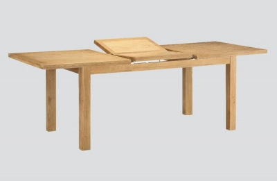 Andorra Washed Oak Large Butterfly Extending Dining Table