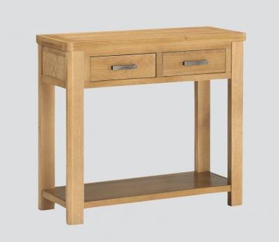 Andorra Washed Oak Large Console Table