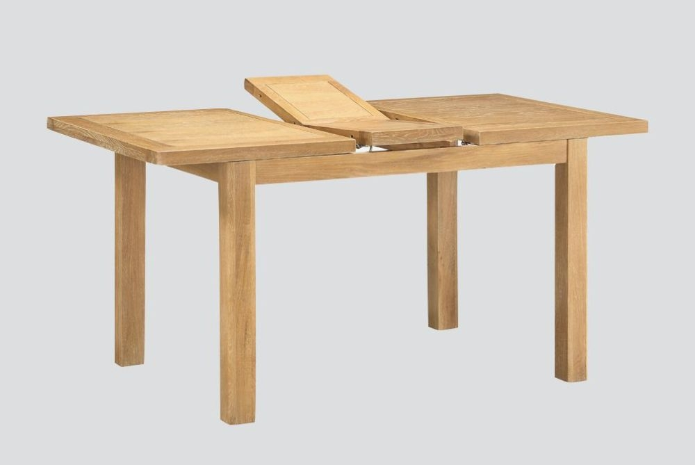 Andorra Washed Oak Butterfly Extending Dining Table