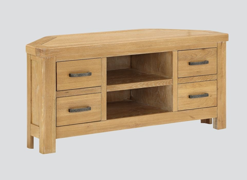Andorra Washed Oak Corner TV Unit