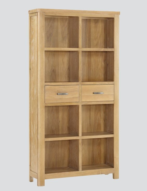 Andorra Washed Oak Tall Bookcase