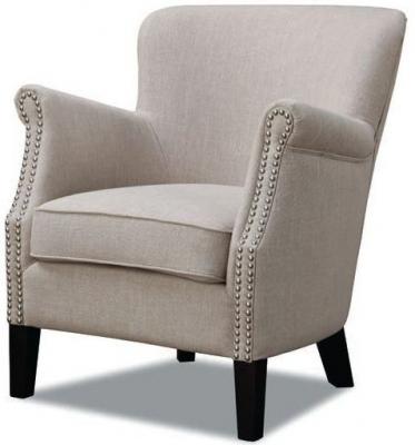 Harlow Beige Fabric Armchair