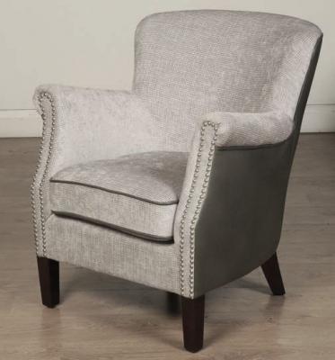 Harlow Grey Fusion Fabric Armchair