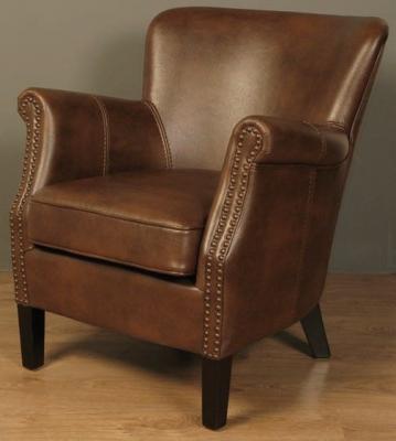 Harlow Tan Leather Armchair