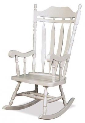 Jefferson White Rocker Chair