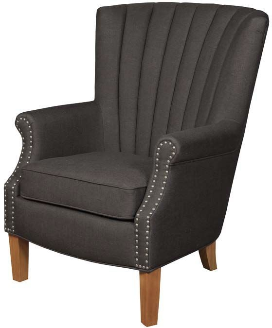 Bexley Charcoal Fabric Armchair