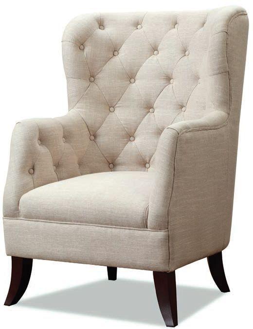 Fulham Beige Fabric Armchair