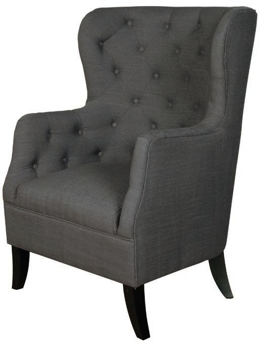 Fulham Charcoal Fabric Armchair